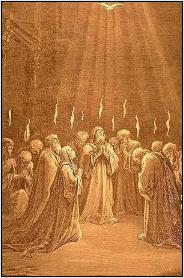Gustave Dore's Etching of the Pentecost